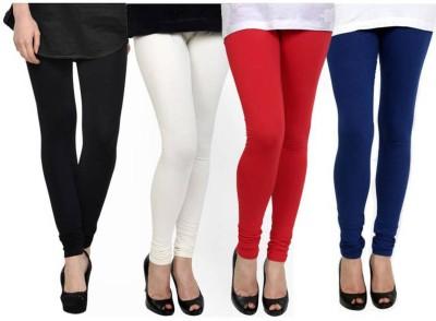 Fashion Zilla Women's Black, White, Maroon, Dark Blue Leggings