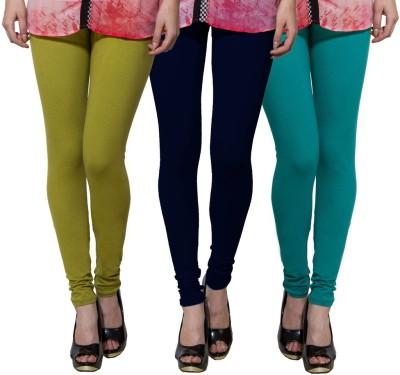 Both11 Women's Light Green, Dark Blue, Green Leggings