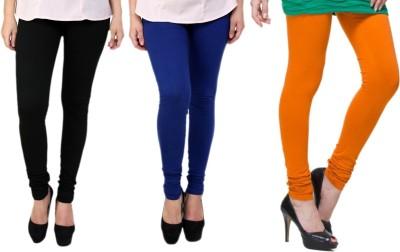 Lienz Women's Black, Blue, Orange Leggings