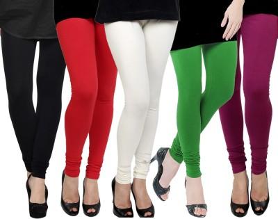 Kjaggs Women's Black, Red, White, Green, Pink Leggings