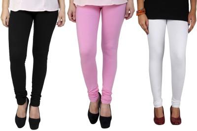 AVSPOLO Women's White, Black, Pink Leggings
