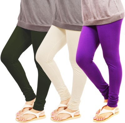 Leggings World Women,s Green, White, Purple Leggings