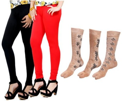 By The Way Womens Maternity Wear Multicolor Leggings(Pack of 2)