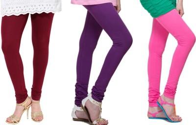 Lienz Women's Maroon, Purple, Pink Leggings