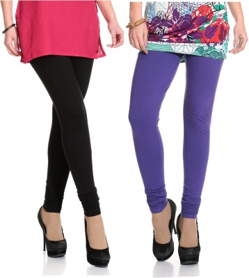 Ahhaaaa Women's Black, Purple Leggings