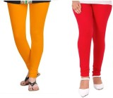 StudioRavel Women's Yellow, Red Leggings...