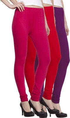 VENUSTAS Women's Purple, Silver, Red Leggings