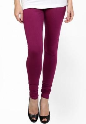 Lasunj Women's Purple Leggings