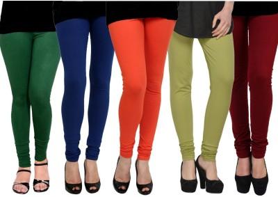 Kjaggs Women's Orange, Blue, Dark Green, Green, Maroon Leggings