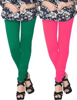 JV Wears Women's Green, Pink Leggings