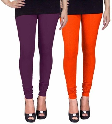 Ayesha Fashion Women's Purple, Orange Leggings