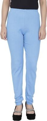 Trendline Women's Light Blue Leggings