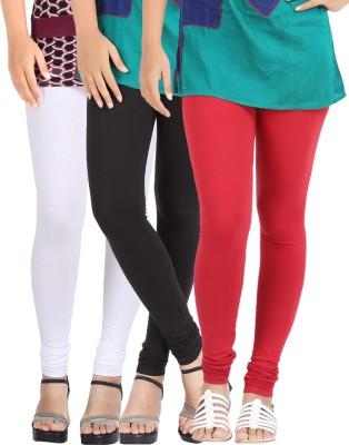 Be-Style Women,s Black, White, Maroon Leggings