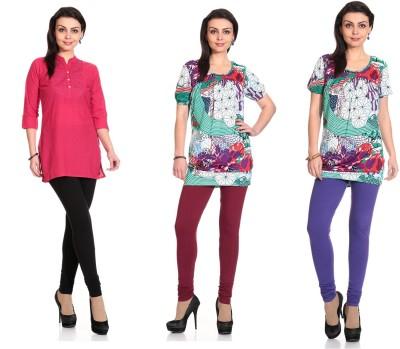 Ahhaaaa Women's Multicolor Leggings