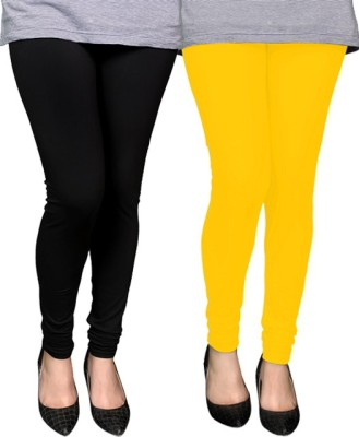 PAMO Women,s Black, Yellow Leggings