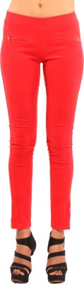Showoff Women's Red Jeggings