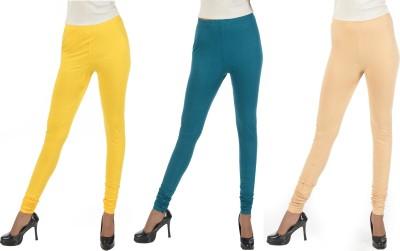 Crezyonline Women's Yellow, Green, Brown Leggings
