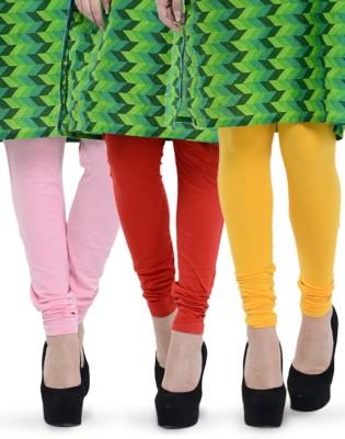 Tjaggies Women's Pink, Red, Yellow Leggings