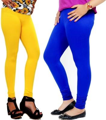 By The Way Women's Yellow, Blue Leggings