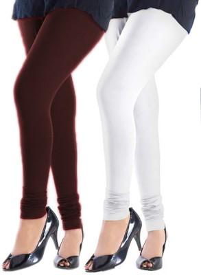 Trusha Dresses Women's Brown, White Leggings