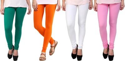 Legemat Girl,s Green, Orange, White, Pink Leggings