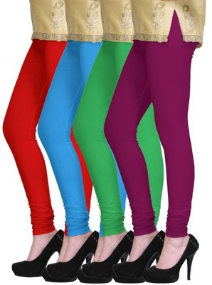 shikha Girl's Red, Blue, Green, Purple Leggings