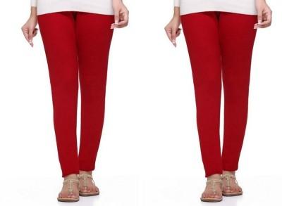 S Redish Women,s Red Leggings