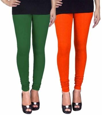 Ayesha Fashion Women's Green, Orange Leggings