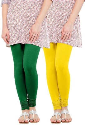 RIF Women's Green, Yellow Leggings