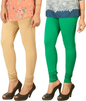 Berries Women's Beige, Green Leggings