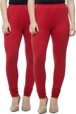 Adorz Wears Women's Red Leggings