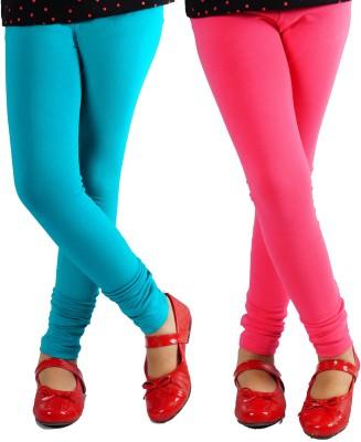 Naughty Ninos Girl's Green, Pink Leggings