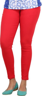 Bottoms More Women's Red Jeggings