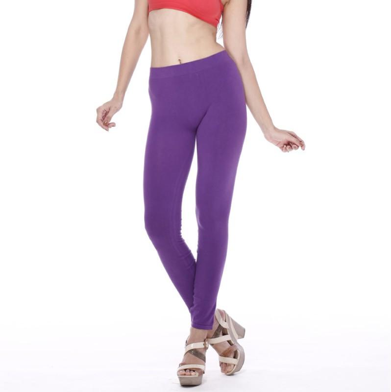 Clovia Women's Purple Leggings