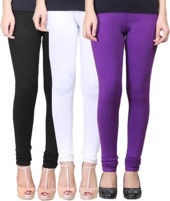 Eshelle Women's Black, White, Purple Leggings