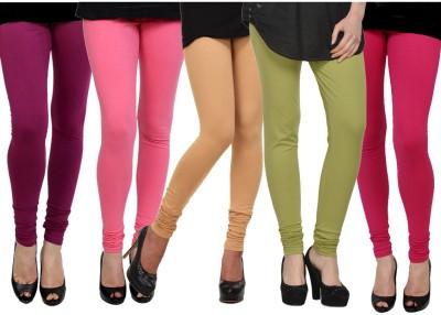 Kjaggs Women's Green, Beige, Pink, Pink, Pink Leggings