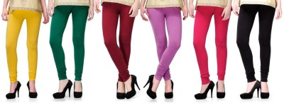 Pert Fashion Women's Yellow, Green, Pink, Black, Maroon Leggings