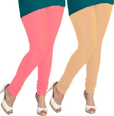 I-Diva Women's Pink, Beige Leggings
