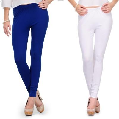 Body Size Women's White, Blue Leggings