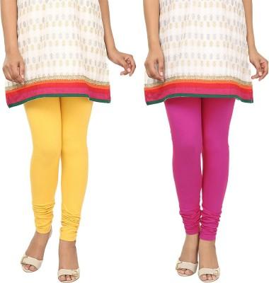 Agrima Fashion Women's Yellow, Pink Leggings