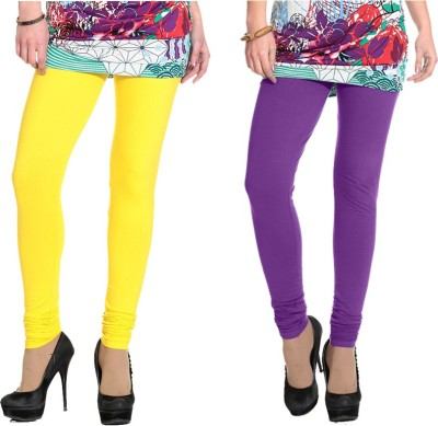 NGT Women's Yellow, Purple Leggings