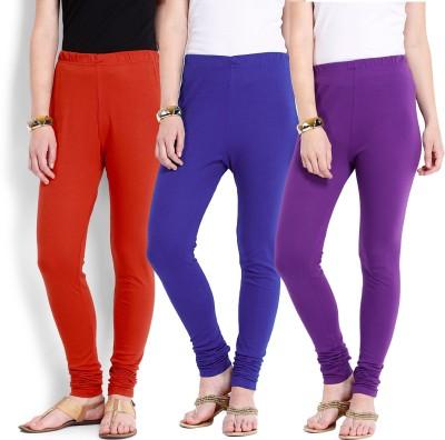 Ten on Ten Women's Purple, Orange, Blue Leggings
