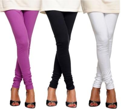 yuvraj creation Women's Black, White, Purple Leggings