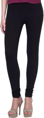 Golden Weave Women's Black Leggings