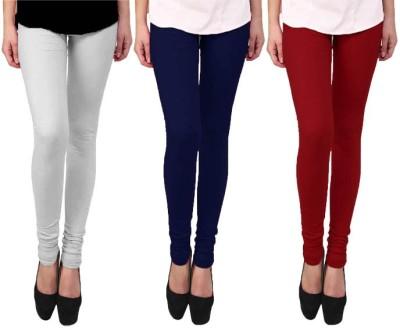 Escocer Women's White, Blue, Maroon Leggings