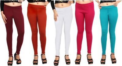 Comix Women's Maroon, Orange, White, Pink, Green Leggings
