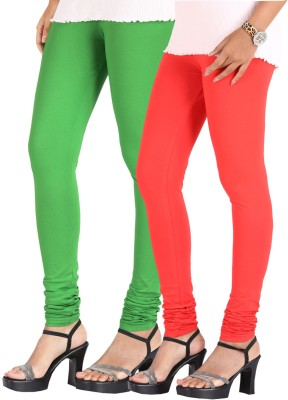 Greenwich Women,s Green, Red Leggings