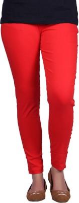 Vivid Bharti Women's Red Leggings