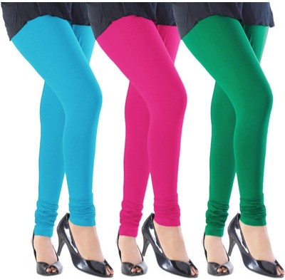 Angel Soft Women,s Light Blue, Pink, Green Leggings