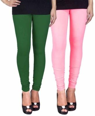 Ayesha Fashion Women's Green, Pink Leggings